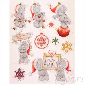 Новогодний Набор прозрачных штампов для скрапбукинга, кардмейкинга Арт Узор