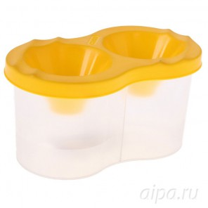 Стакан-непроливайка 300мл двойной жёлтый