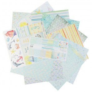 Sea party Набор бумаги односторонней для скрапбукинга, кардмейкинга Арт Узор