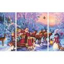 Дед Мороз Триптих Раскраска по номерам Schipper (Германия)
