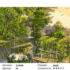 Количество цветов и сложность Прекрасная природа Раскраска картина по номерам акриловыми красками на холсте