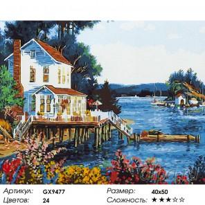 Количество цветов и сложность Веранда с видом на море Раскраска картина по номерам акриловыми красками на холсте