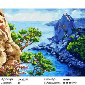 Количество цветов и сложность Море и скалы Раскраска картина по номерам акриловыми красками на холсте