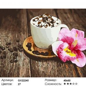 Кофе со сливками Раскраска картина по номерам на холсте