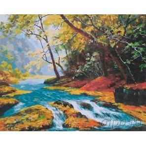 Прозрачный поток Раскраска картина по номерам акриловыми красками на холсте