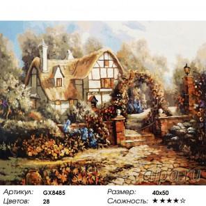 Цветущий сад вокруг дома Раскраска картина по номерам акриловыми красками на холсте