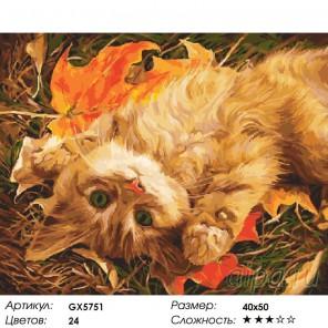 Встречая осень Раскраска картина по номерам акриловыми красками на холсте