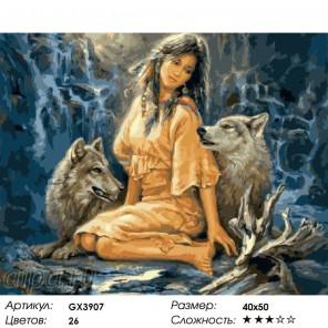 Магия волков Раскраска картина по номерам на холсте
