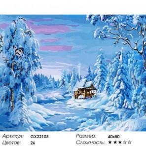 Количество цветов и сложность Зимнее утро Раскраска картина по номерам акриловыми красками на холсте