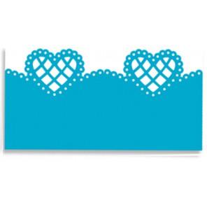 Бордюр Решетчатое сердце Фигурный дырокол для скрапбукинга, кардмейкинга Martha Stewart Марта Стюарт