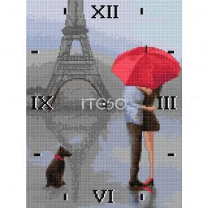 Поцелуй в Париже Часы Алмазные на твердой основе с полной выкладкой Iteso