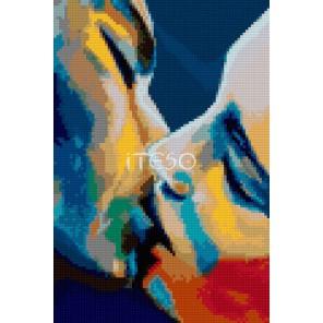 Радужный поцелуй Алмазная вышивка мозаика Iteso