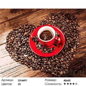 Кофе Раскраска картина по номерам на холсте