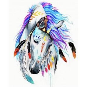 Лошадь-тотем Алмазная мозаика на подрамнике