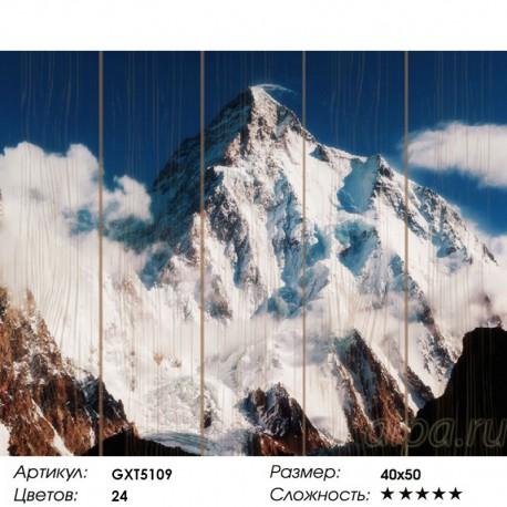 Количество цветов и сложность  Эверест Картина по номерам на дереве