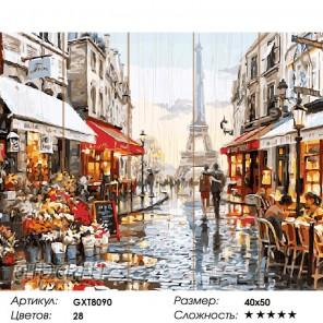 Окно в Париж Картина по номерам на дереве