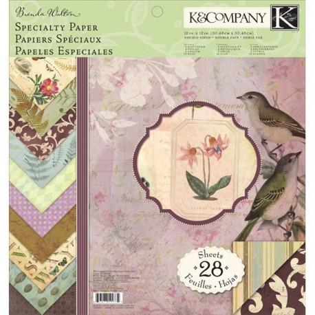 Флора и фауна 31х31см Набор бумаги для скрапбукинга, кардмейкинга K&Company