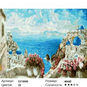 Адриатическое море Раскраска картина по номерам на холсте