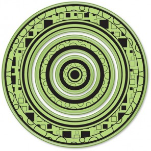 Большие круги (3 шт)Набор резиновых штампов для скрапбукинга, кардмейкинга Inkadinkado