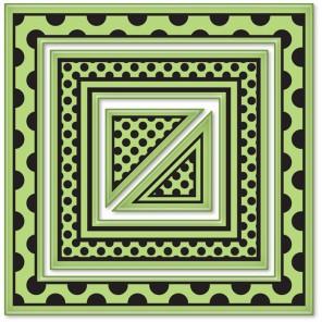 Большие квадраты (4 шт)Набор резиновых штампов для скрапбукинга, кардмейкинга Inkadinkado