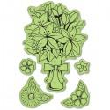Букет цветов (5 шт)Набор резиновых штампов для скрапбукинга, кардмейкинга Inkadinkado