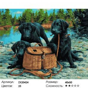 Количество цветов и сложность Дружная компания Раскраска картина по номерам акриловыми красками на холсте