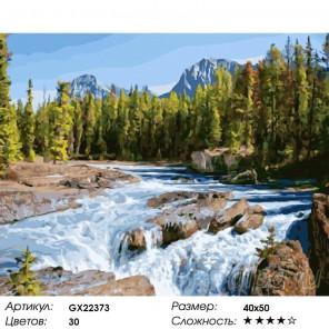 Шум реки Раскраска картина по номерам на холсте