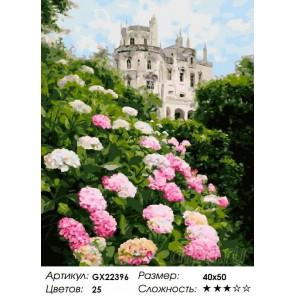 Сад у замка Раскраска картина по номерам на холсте