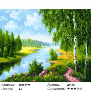 Количество цветов и сложность Речная гладь Раскраска картина по номерам акриловыми красками на холсте