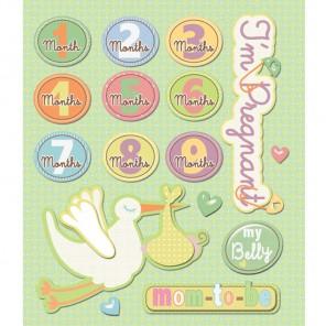 Аист (Маленькие радости жизни) Стикеры для скрапбукинга, кардмейкинга K&Company