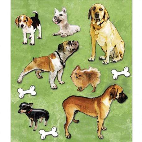 Собачки (Маленькие радости жизни) Стикеры для скрапбукинга, кардмейкинга K&Company