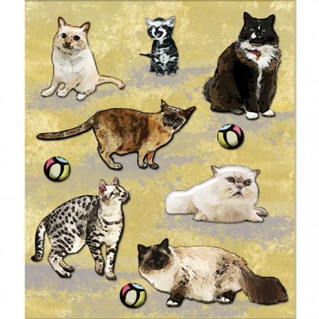 Котики (Маленькие радости жизни) Стикеры для скрапбукинга, кардмейкинга K&Company