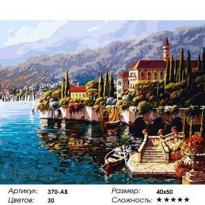 Варенна. Италия Раскраска ( картина ) по номерам на холсте Белоснежка