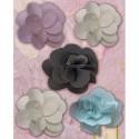 Тканевые цветы Украшения для скрапбукинга, кардмейкинга K&Company