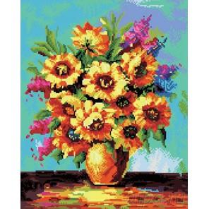 Солнечные цветы Алмазная вышивка (мозаика) Molly