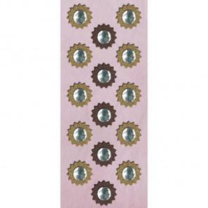 Звезды со стразами (Флора и фауна) Стикеры картонные для скрапбукинга, кардмейкинга K&Company