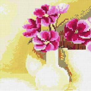 Букет фиалок Алмазная вышивка (мозаика) Molly