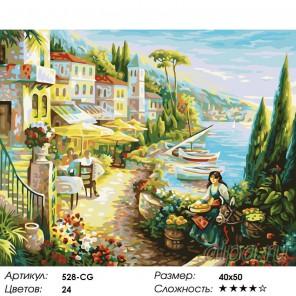 Количество цветов и сложность Итальянский городок Раскраска ( картина ) по номерам на холсте Белоснежка