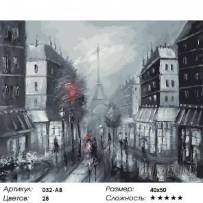 Париж Раскраска ( картина ) по номерам на холсте Белоснежка