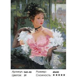 Парижанка Раскраска ( картина ) по номерам на холсте Белоснежка
