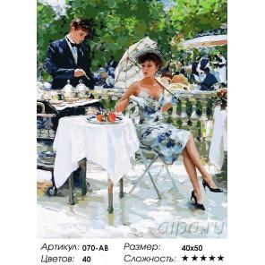 На летней веранде Раскраска ( картина ) по номерам на холсте Белоснежка