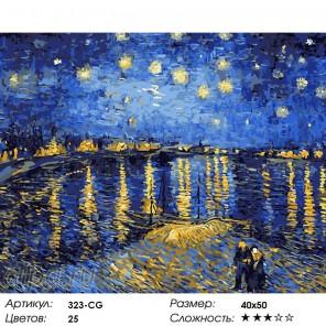 Ночная романтика Раскраска ( картина ) по номерам на холсте Белоснежка