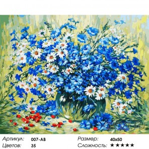 Летний натюрморт Раскраска ( картина ) по номерам на холсте Белоснежка
