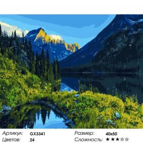 Алтайский пейзаж Раскраска картина по номерам на холсте