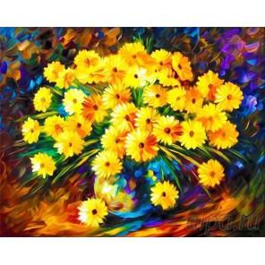 Осенние хризантемы Алмазная мозаика на подрамнике