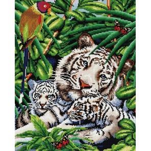 Белые тигры Алмазная мозаика вышивка Painting Diamond