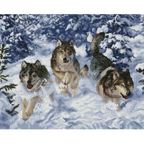 Бегущие волки Алмазная мозаика вышивка Painting Diamond