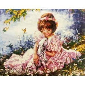 Девочка и щенок Алмазная мозаика вышивка Painting Diamond