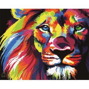 Радужный лев Алмазная мозаика вышивка Painting Diamond
