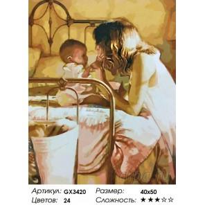 Мать и дитя Раскраска картина по номерам на холсте